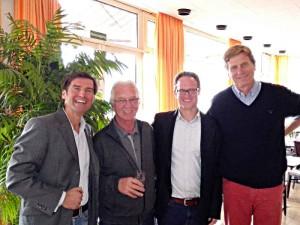 Dr. Thorsten Bandel, Walter Köberle, Jari Greiner und Dietloff von Arnim